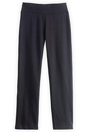 Fair Indigo Fair Trade Organic Straight Leg Knit Pants (XL, Black)