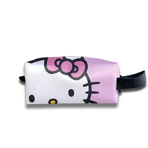 LIUYAN Bolsa Aseo Viaje Hello Kitty Love Dounts Cremallera