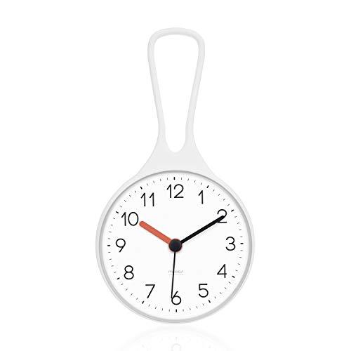 Mooas Loop Bathroom Clock, Shower Clock, Waterproof Shower Clock (White)