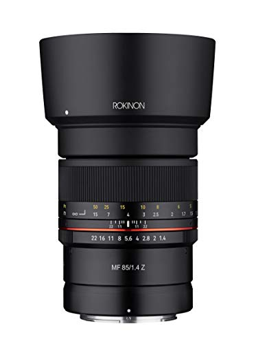 Rokinon 85mm F1.4 Weather Sealed High Speed Telepoto Lens for Nikon Z Mirrorless Cameras