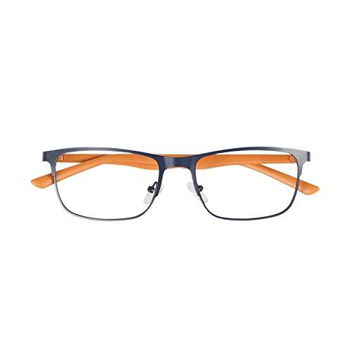 YGF121 BONOX ダルトン おしゃれ 老眼鏡 シニアグラ Reading Glasses (YGF120NBO NAVY_ORANGE, 1.0)