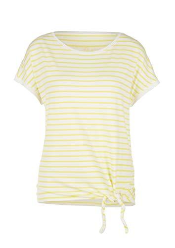 s.Oliver RED LABEL Damen Streifenshirt mit Knoten-Detail yellow stripes 38
