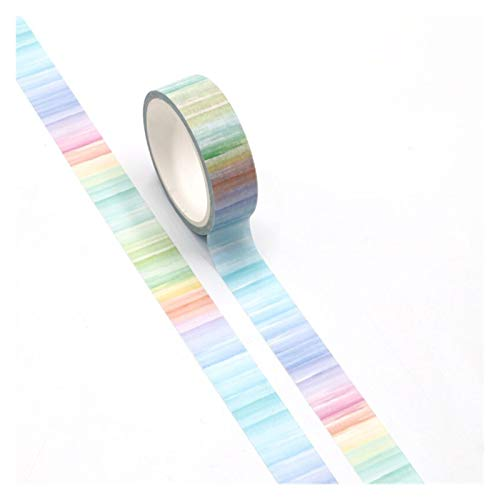 Diseño especial Nuevo Papel de cinta washi de estampado de acuarela linda para el planificador de bricolaje Scrapbooking Masking Decorative Office Office Supplies pour l'artisanat décoratif,