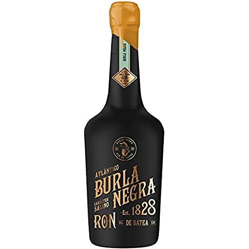 Ron Burla Negra - Ron Pirata con Agua del Océano Atlántico, Sabor Diferente, Aroma Intenso, Notas Salinas, Beber Solo o Combinado, Perfecto para Regalar, 70cl