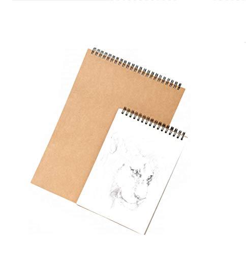 Sketchbook bobina Dibujo Dibujo Dibujo libro de tapa dura Bloc de dibujo A4 21 * 29.7cm perfecto for el grafito lápices de colores de 60 páginas Tapa dura Pad A4 dljyy