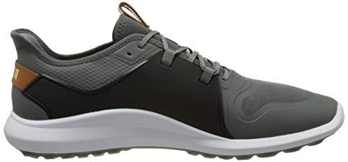 Puma Men's 193000 Golf Shoe, Quiet Shade-Gold Black, 9 UK