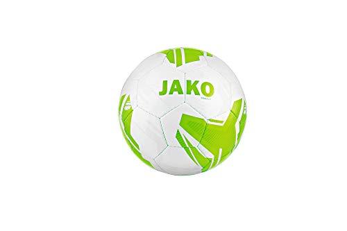 JAKO Lightball Striker 2.0 MS Fußbälle, weiß/Neongrün-290g, 4