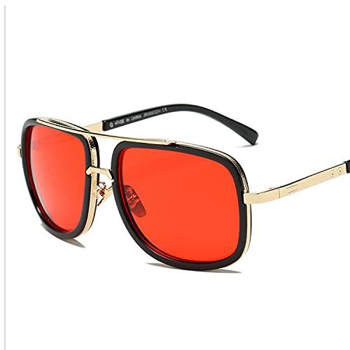 Gafas De Sol Con Montura Metálica Gafas De Sol Polarizadas Para Damas, Montura Grande 100% Protección Uv400