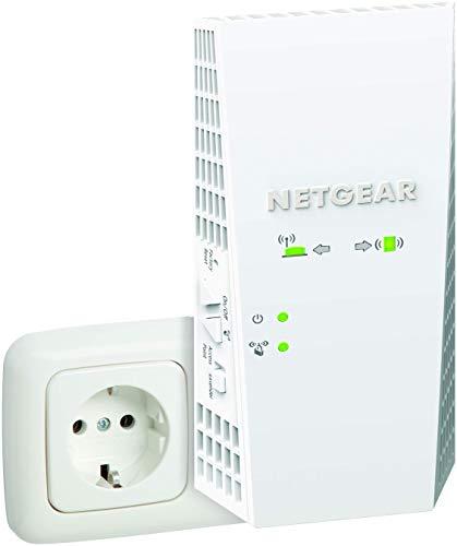 NETGEAR WLAN Mesh Repeater EX7300WLAN Verstärker, AC2200 Dual Band WiFi, Abdeckung 3 bis 4 Räume & 35 Geräte, Geschwindigkeit bis zu 2200 MBit/s, smartes Mesh WLAN Roaming