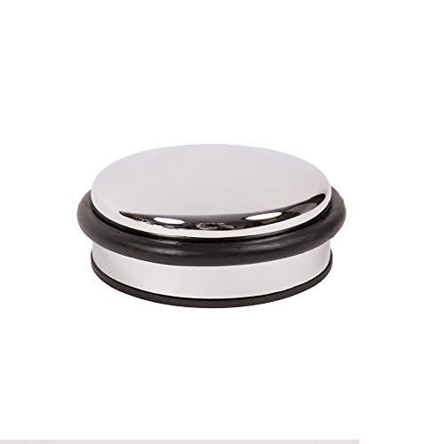 Türstopper Türpuffer Bodentürstopper massiv Metall - ø 91 mm - diverse Ausführungen (Chrom glänzend)