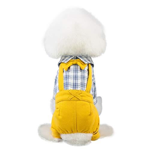 Bluelucon Gentleman draagbroek Small Dog Dress hond Bowknot Dress hond kat schattige Spring Summer broek