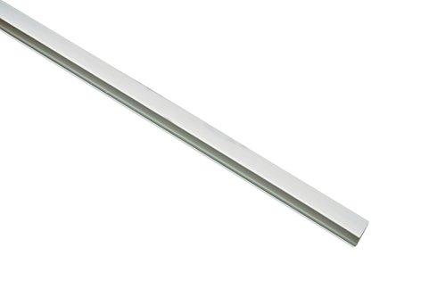 Gardinia Seitenprofil für Rollo weiß 150, Plastik, 150 cm, 2-Einheiten