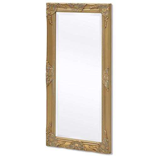 vidaXL Wandspiegel Garderobe Spiegel Badspiegel Antik Barock-Stil 100x50 cm Gold