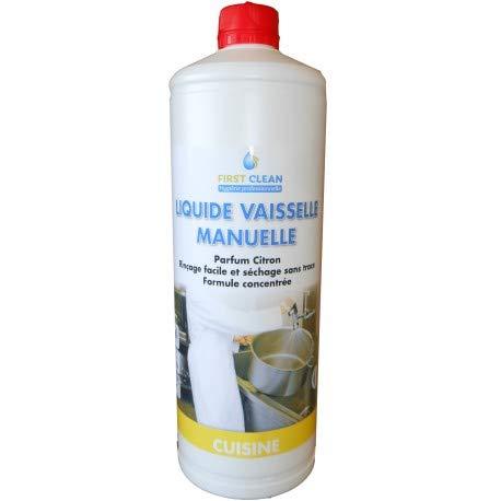 Líquido para vajilla – Producto líquido para vajilla – Líquido para lavavajillas – Líquido para lavavajillas Clean Plonge limón 8 % – Bidón de 1 l