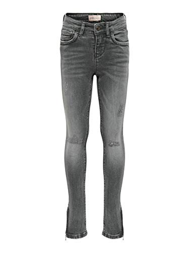 ONLY Girl Skinny Fit Jeans KONKendel Grey Zip Ankle 158Grey Denim