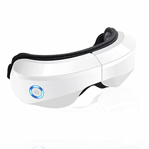 Electric Eye Massager with Heat, Compression, Electric Portable Eye Massager Mask with Vibration, Rechargeable Eye Temple Massager for Relax and Reduce Dry Eye Strain Dark Circles, Great Gift Idea