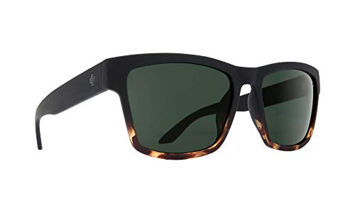 SPY Optic Haight 2 Soft Matte Black Tort Fade - HD Plus Gray Green