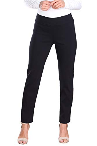Popana Womens Stretch Pull On Dress Pants Ankle Length Work Casual -...