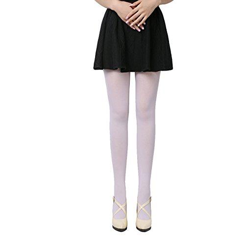 ECYC Mujeres, Niña, Primavera, Otoño, Opaque, Pies, Tight Sexy Pantyhose, White