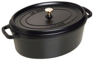 Staub 1103725 Cocotte Ovale Noir Mat 37 cm