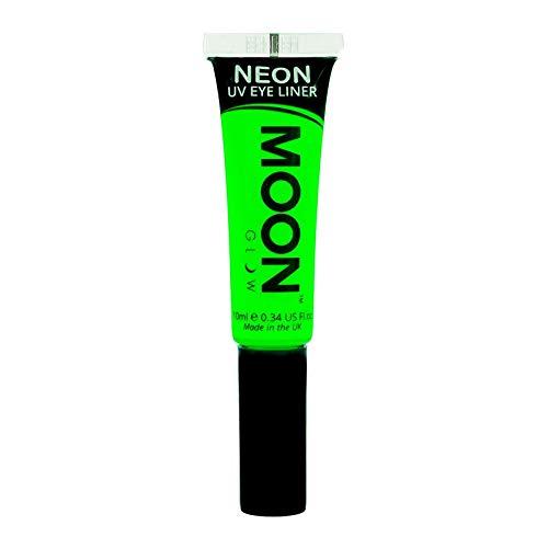 Moon Glow – Eye liner néon UV 10ml Vert. qui produisent un effet fluo incroyable sous la lumière ultraviolette ou noire !