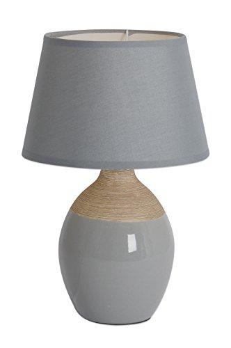 """Preisvergleich Produktbild Näve Leuchten 3122216 A++ to E,  Keramik Tischleuchte""""Leni"""",  40 W,  grau,  40 x 17 x 40 cm"""