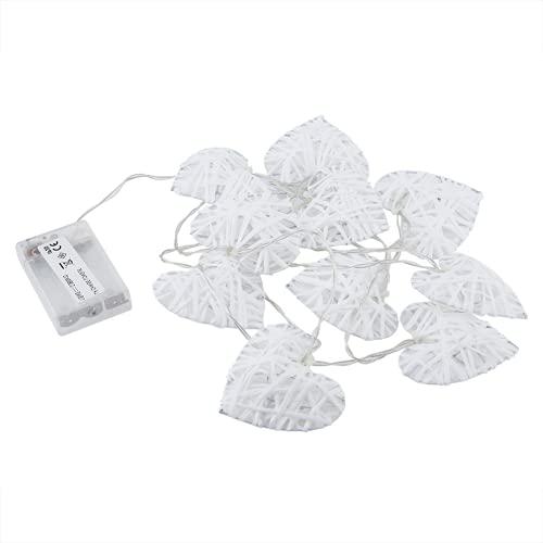 Jeanoko - Lampada in rattan naturale, 10 LED, ideale per decorare la casa, ornamento e artigianato