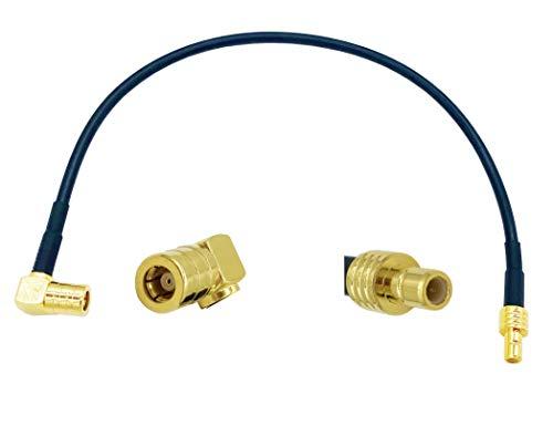 Vecys Cable SMB Cable Adaptador Enchufe SMB para Enchufe SMB en ángulo Recto RG174 20cm 7,87in Cable Extensión Antena Dab Compatible con Radio Coche Dab Blaupunkt Pionero TechniSat