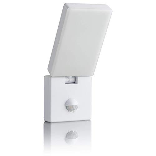 SEBSON LED Aussenleuchte mit Bewegungsmelder, Wandleuchte weiß 15W 900lm kaltweiß 5800K schwenkbar IP65, Außenwandleuchte Sensor 9m / 140°
