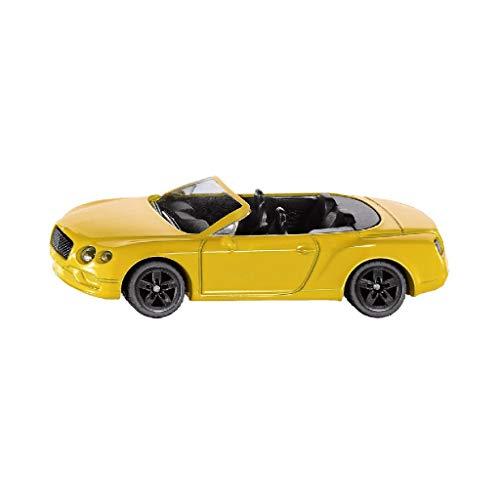 SIKU 1507, Bentley Continental GT V8 Convertible, Metall/Kunststoff, Gelb, Spielzeugauto für Kinder
