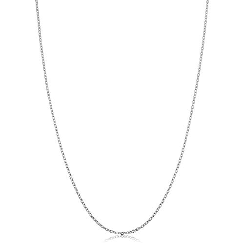 Kooljewelry Sterling Silver Round Cable Chain Necklace (1.2 mm, 22 inch)