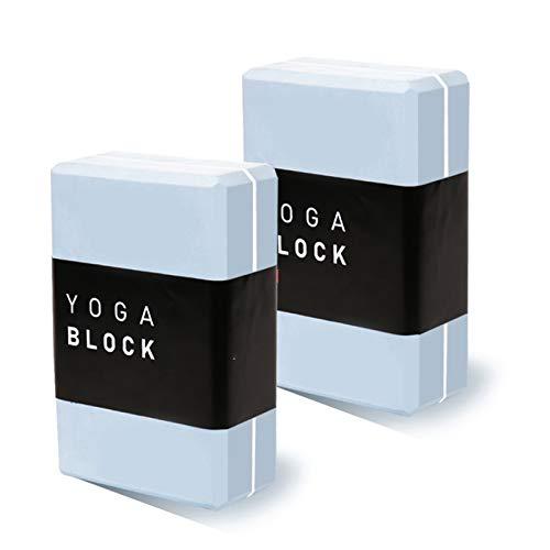 HCMNME, Yoga Bloque, único Antideslizante Bloque de Soporte de Espuma EVA Superficie Resistente, for Mejorar la Fuerza flexibilidad y el Equilibrio de Yoga y Pilates (1 PC o 2 Piezas Set)