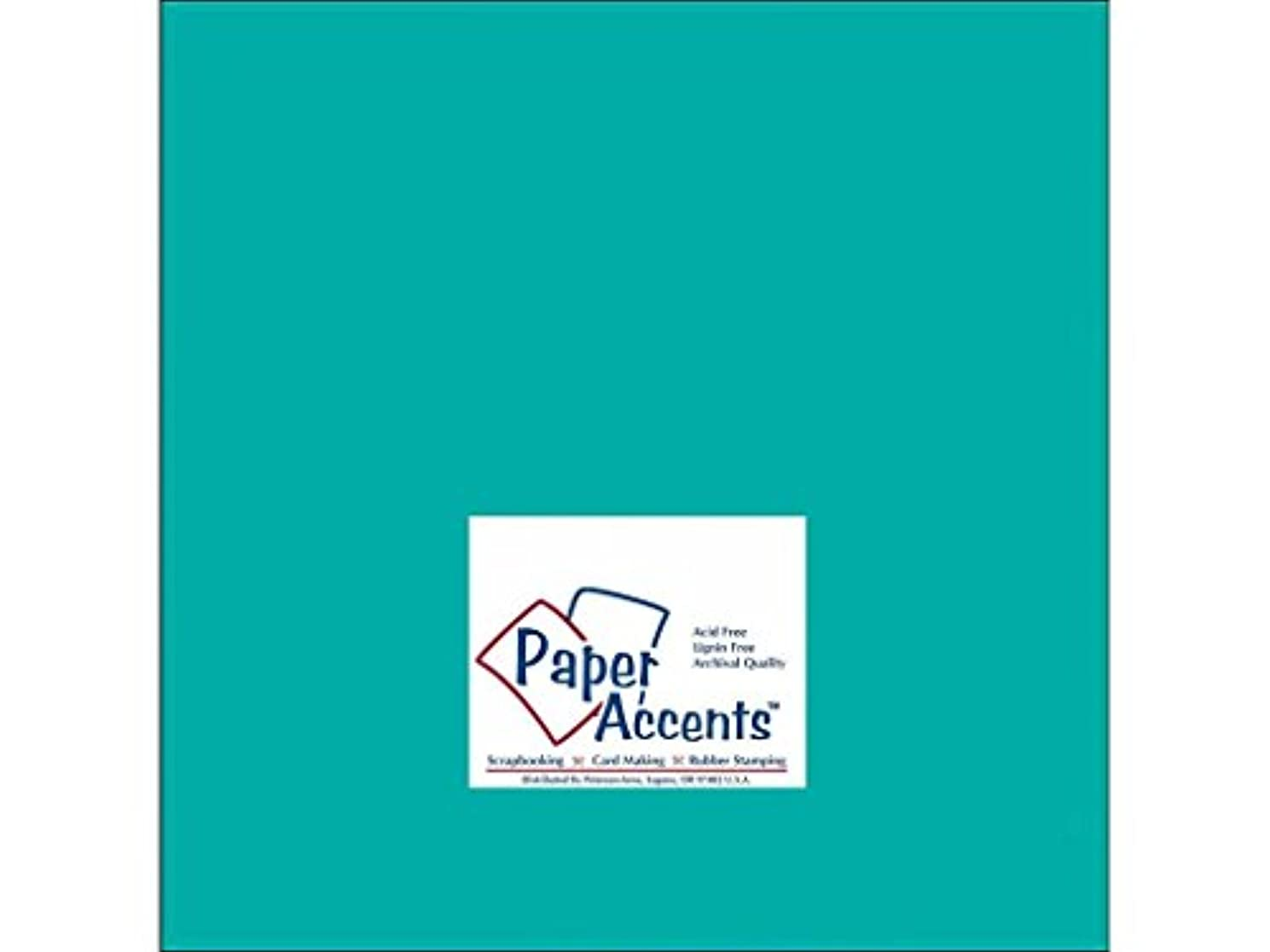 Accent Design Paper Accents Cdstk Smooth 12x12 65# Sea Blue