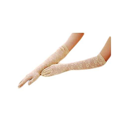 Damen Cashmere Schutz Gestrickt Armlange Armstulpen Halbhand Lang Handschuhe Ha