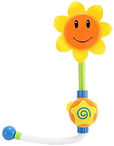 Zonnebloem Water Spout Operated Waterpomp met handdouche Spuiten baby Badspeelgoed