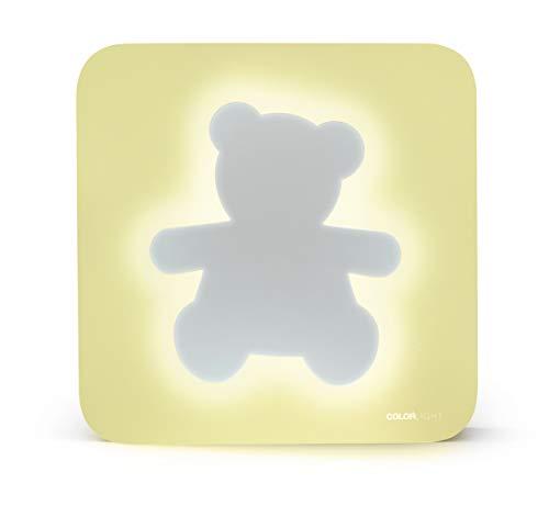 Bigben Interactive Color Light Oso - Altavoz inalámbrico, luz Nocturna, Amarillo