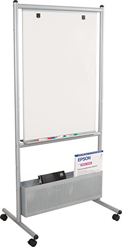"Best-Rite Mobile Nest Easel, Platinum Frame, Double Sided Porcelain Steel Whiteboard, 72""H x 34.75""W x 24""D (785P)"
