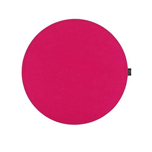 VOIGTdesign Filz-Sitzauflage - Stuhlauflage - Sitzkissen - Stuhlkissen - Auflage - rund - bi-Color - 2-lagig (D 35 cm, 104 pink)