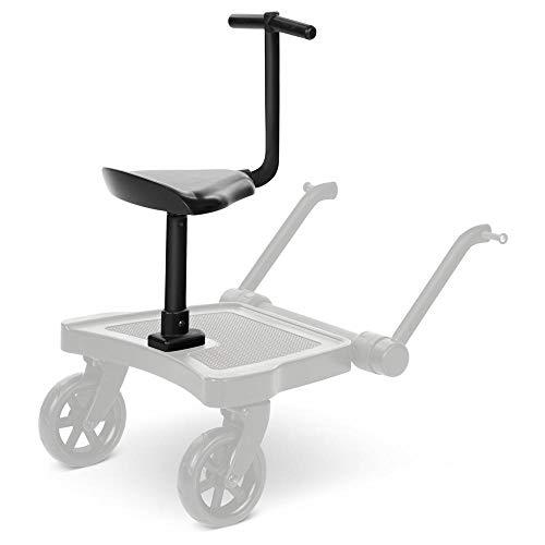 Siège Kiddie Ride On 2 ABC Design – pour Poussettes – Assise pour Planche Kiddie Ride On 2 ABC Design – Jusqu'à 20kg – Couleur : black