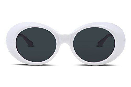 FEISEDY Gafas Kurt Cobain Gafas Clout Gafa de Sol Oval Style Mujer Hombre B2253