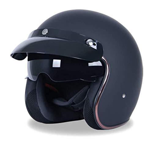 KKAAMYND Retro Open Face Motorcycle Crash Half Helmet Vintage Motorcycle Helmet Jet Capacetes De Motociclista Sliver Chrome Vespa Cascos para Moto Cafe Racer Mirror,ECE Aprobado