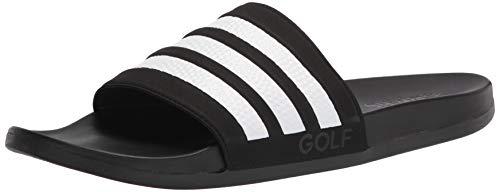 adidas Unisex Adilette Comfort Slide Sandal, Core Black/White/Core Black, 5 US Men