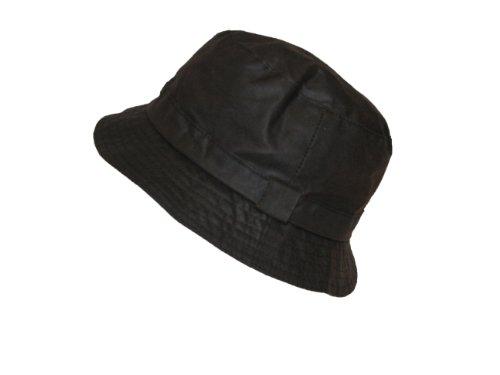 H&D Chapeau de qualité supérieure 100% Coton ciré avec Doublure en Tartan (Petit, Marron)