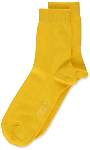 FALKE Kinder Socken Family - 94% Baumwolle, 1 Paar, Gelb (Sun 1180), Größe: 27-30