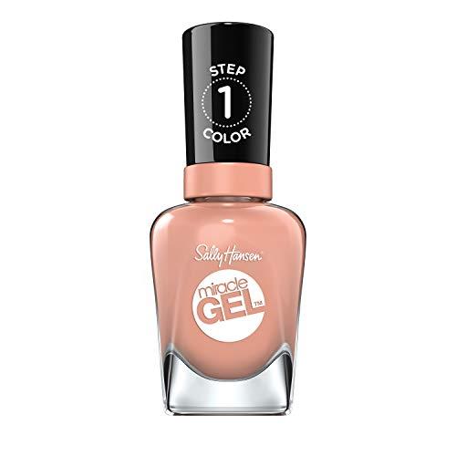 Sally Hansen Miracle Gel Nail Polish At-home gel manicure, Frill Seeker, Nude Shades - 14.7 ml