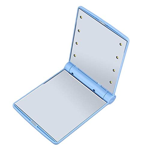 Miroir de maquillage pour femme Cosmetic Led Mirror bleu