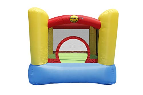 Happy Hop 9003 Bouncy Castle with Safety Enclosure, Air Blower, Ground Anchors, Repair Kit and Carry Bag, Multicolored