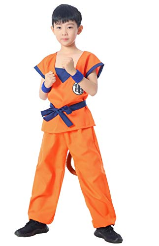 Japanese Amime Son Goku Kame Style Kids Cosplay Costumes 5-Piece Set(6Y-8Y)