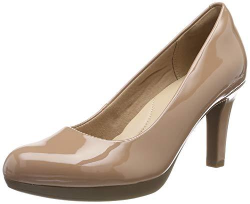 Clarks Adriel Viola, Zapatos de Tacón Mujer, Beige (Praline Patent Praline Patent), 39 EU