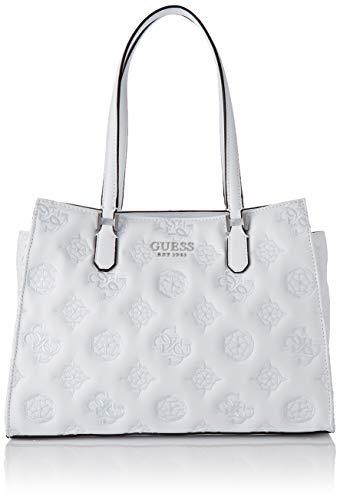 Guess Chic Society Carryall, bolso para Mujer, Bianco, Talla única